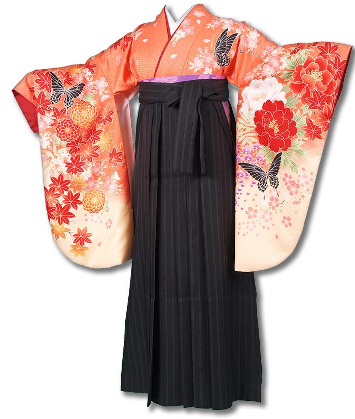 【h】 送料無料 卒業式レンタル袴フルセット-1210