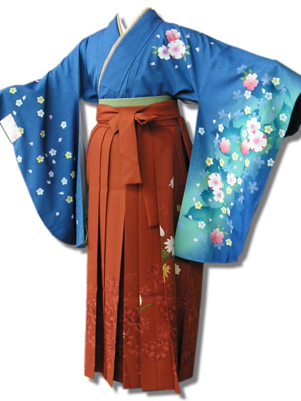 |送料無料|卒業式レンタル袴フルセット-530