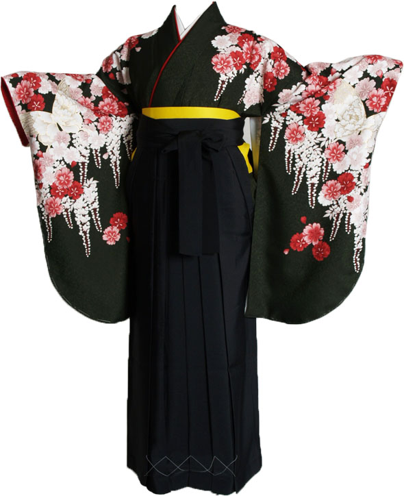 |送料無料|【uxu】卒業式レンタル袴フルセット-902
