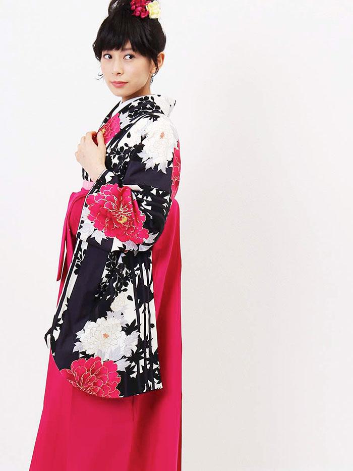 |送料無料|卒業式レンタル袴フルセット-1216
