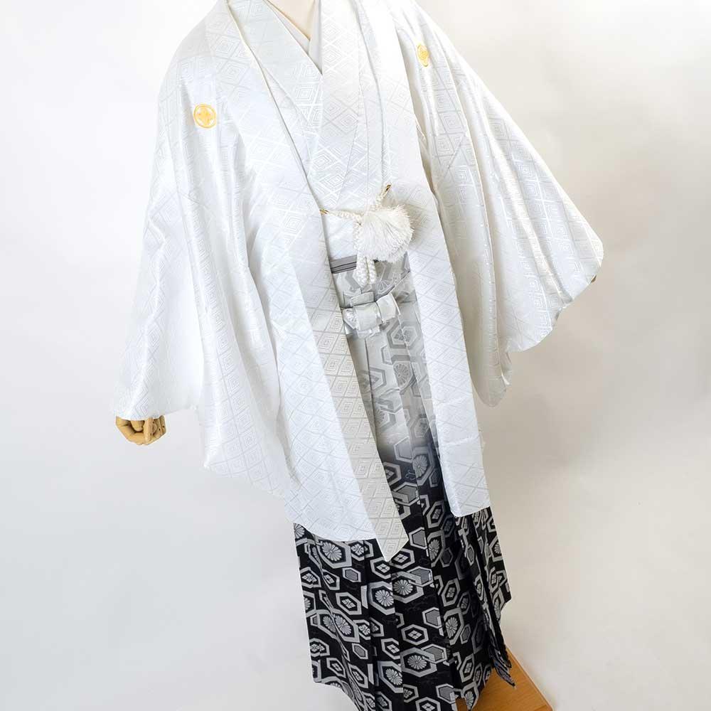 【成人式】【対応身長170cm-180cm】男性用レンタル紋付き袴フルセット