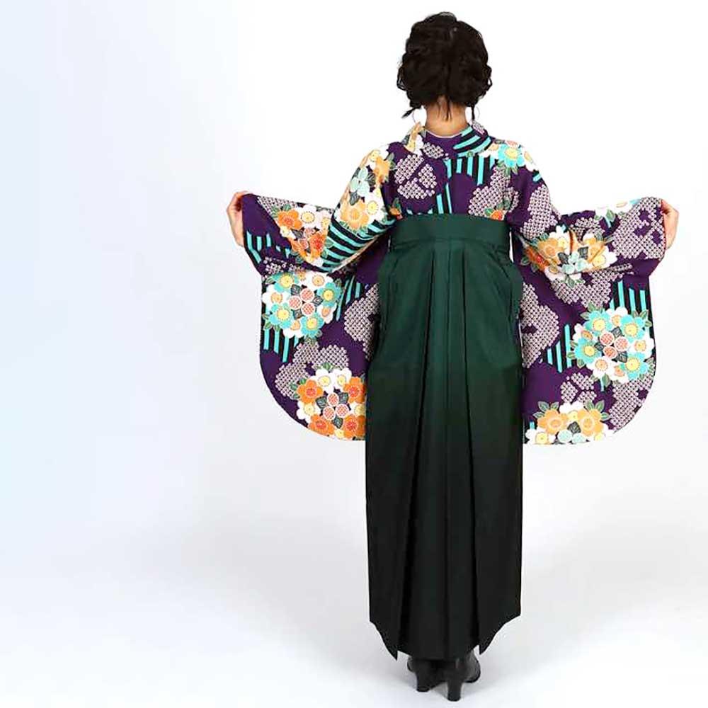 【h】|送料無料|卒業式レンタル袴フルセット-1801