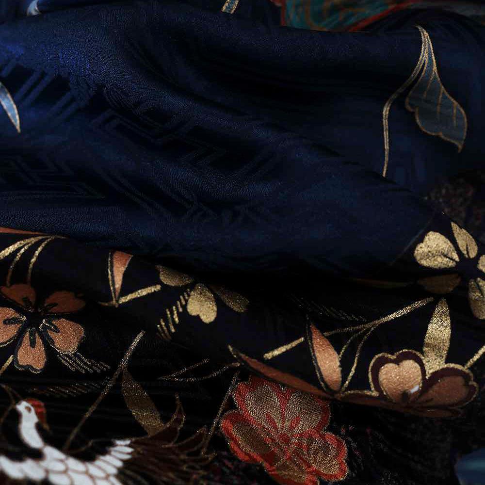 |送料無料|【レンタル】【成人式】 [安心の長期間レンタル]【対応身長155cm〜170cm】【正絹】レンタル振袖フルセット-151|花柄|レトロ|