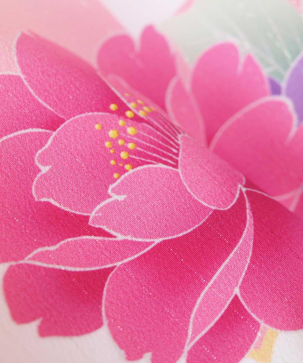 |送料無料|【レンタル】【成人式】 [安心の長期間レンタル]【対応身長155cm〜170cm】【合繊】レンタル振袖フルセット-478|花柄|モダン|