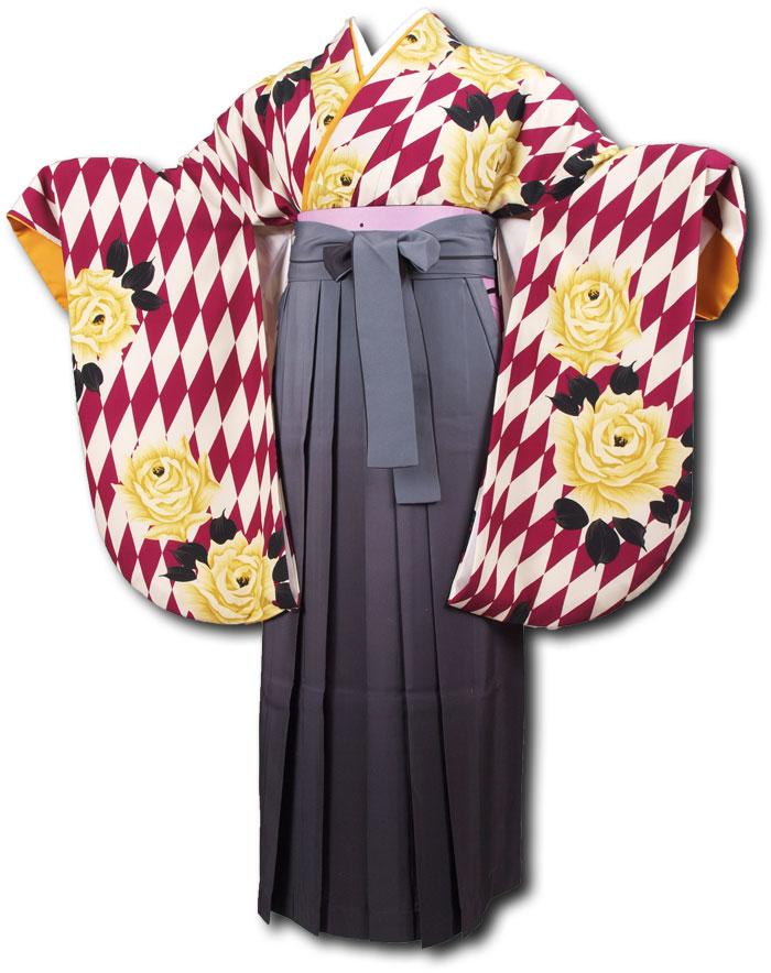 【h】|送料無料|卒業式レンタル袴フルセット-1119