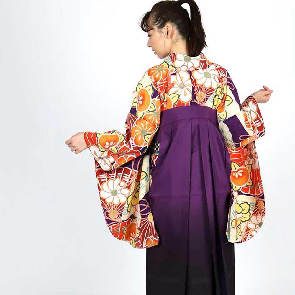 |送料無料|卒業式レンタル袴フルセット-1803