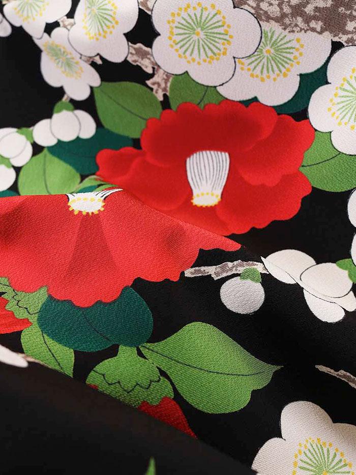 |送料無料|【レンタル】【成人式】 [安心の長期間レンタル]【対応身長155cm〜170cm】【合繊】レンタル振袖フルセット-479|花柄|レトロ|