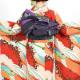 |送料無料|【レンタル】【成人式】 [安心の長期間レンタル]【対応身長150cm〜165cm】レンタル振袖フルセット-923 花柄 レトロ クール系