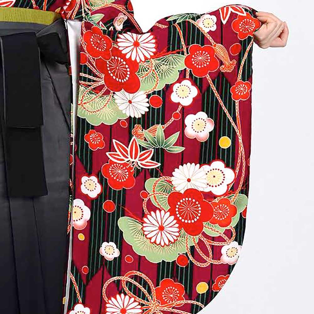 【h】|送料無料|卒業式レンタル袴フルセット-1804