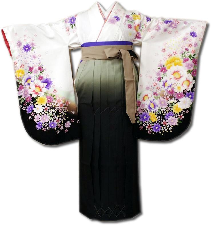  送料無料 卒業式レンタル袴フルセット-668