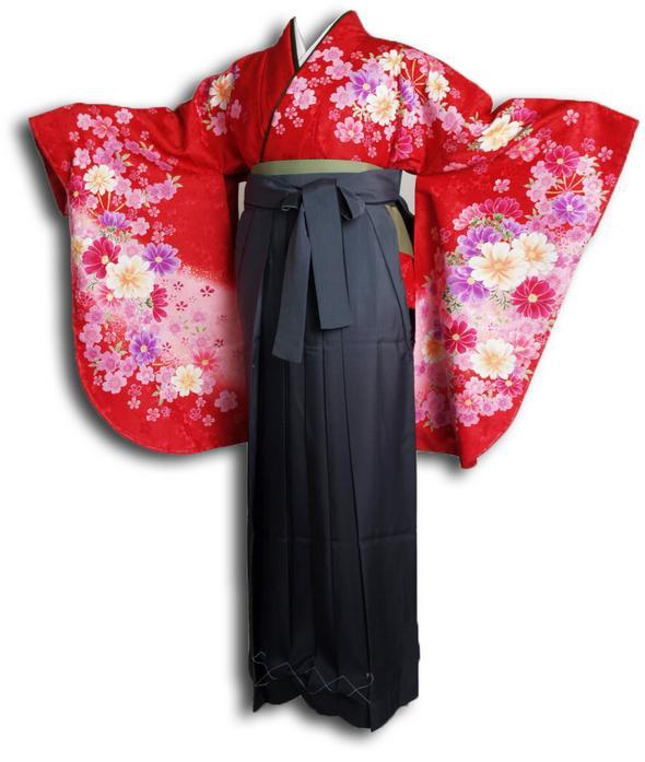 |送料無料|【uxu】卒業式レンタル袴フルセット-915