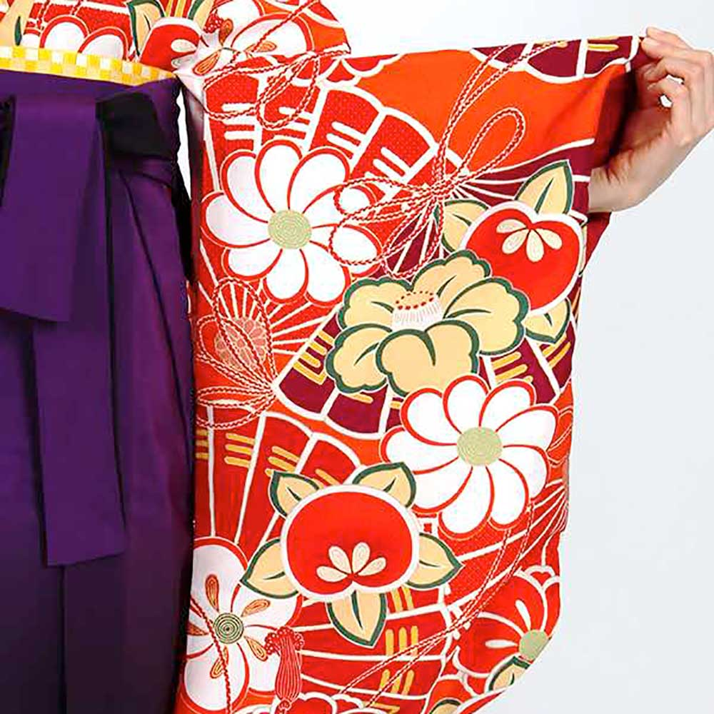 送料無料 卒業式レンタル袴フルセット-1805