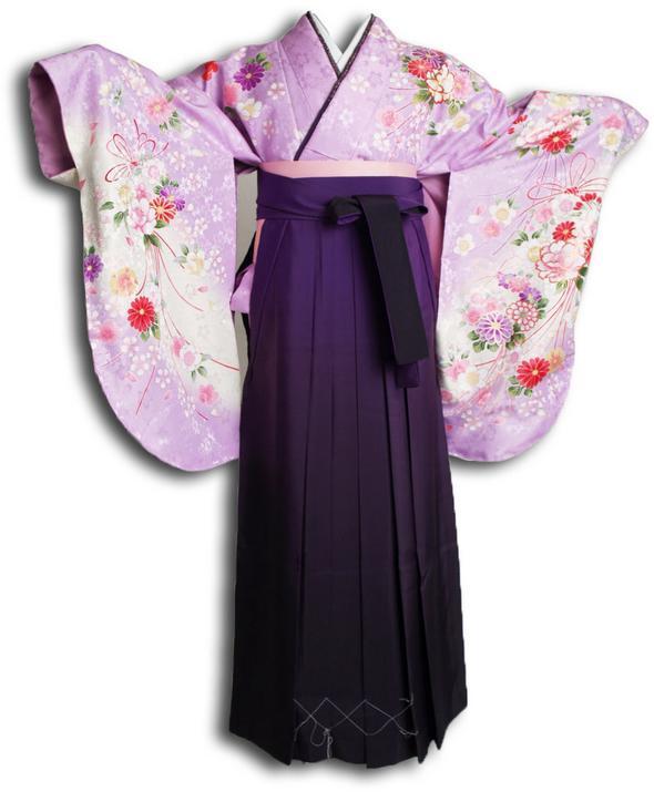 |送料無料|【uxu】卒業式レンタル袴フルセット-916