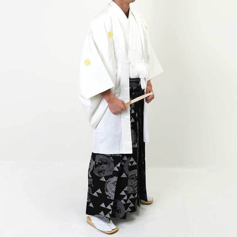 |送料無料|【成人式・卒業式】【成人式・卒業式】男性用レンタル紋付き袴フルセット-7002