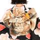|送料無料|【レンタル】【成人式】 [安心の長期間レンタル]【対応身長155cm〜170cm】レンタル振袖フルセット-585|花柄|レトロ|ポップキ