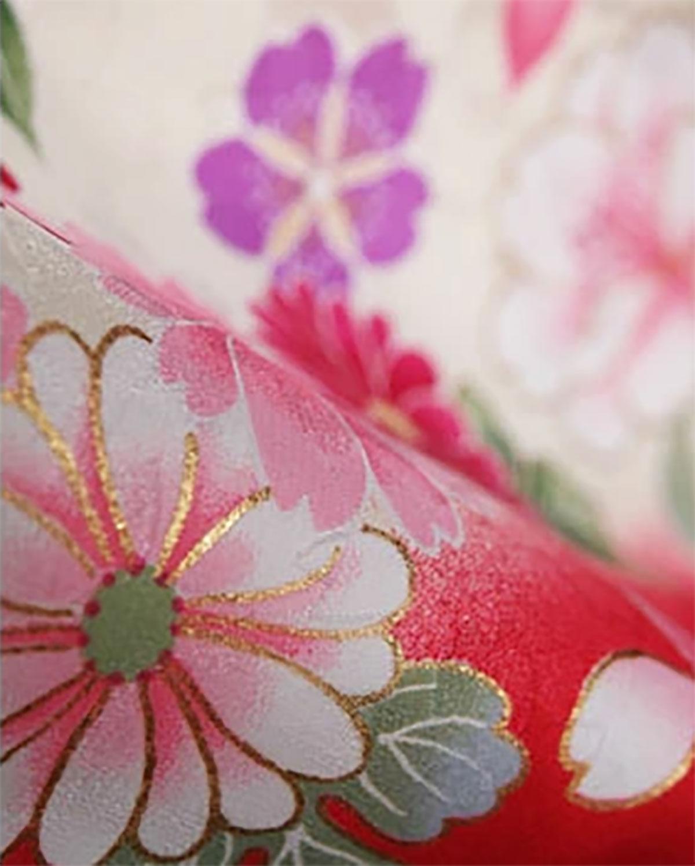 |送料無料|【対応身長157cm〜165cm】【正統派】卒業式レンタル袴フルセット-917|花柄|菊|桜|ピンク|赤|黒|グレー|
