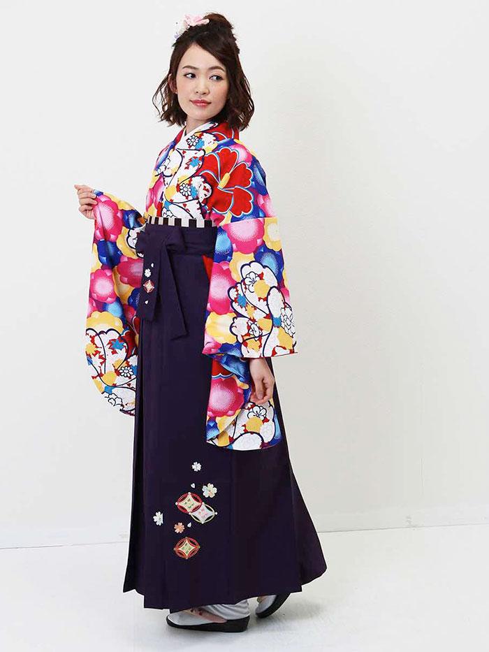 【h】|送料無料|卒業式レンタル袴フルセット-1334