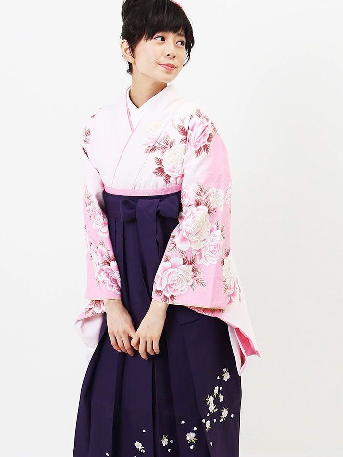 |送料無料|卒業式レンタル袴フルセット-809
