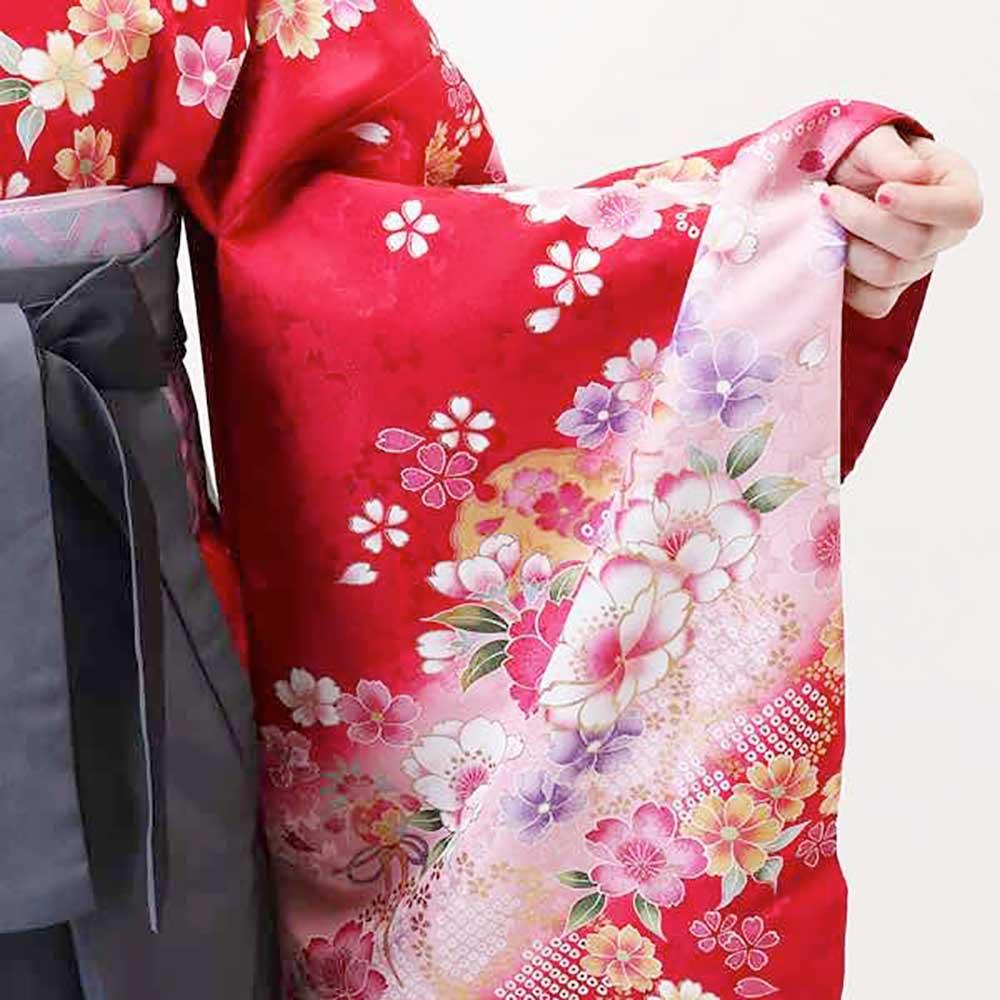 |送料無料|卒業式レンタル袴フルセット-918