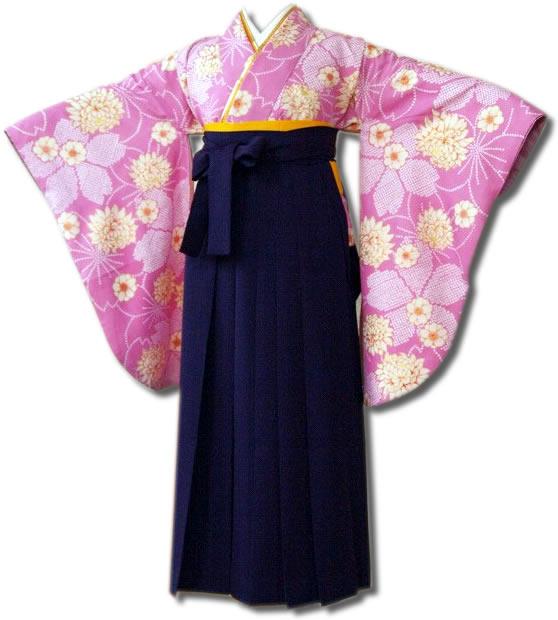  送料無料 卒業式レンタル袴フルセット-624