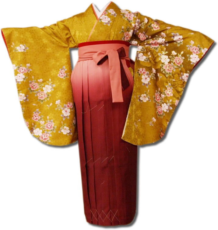 送料無料 卒業式レンタル袴フルセット-626