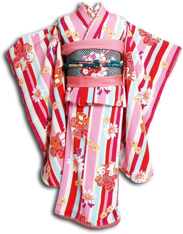 |送料無料||往復送料無料|【レンタル七五三】【 JAPAN STYLE(ジャパンスタイル) 】女の子7歳用七五三お祝い着フルセット