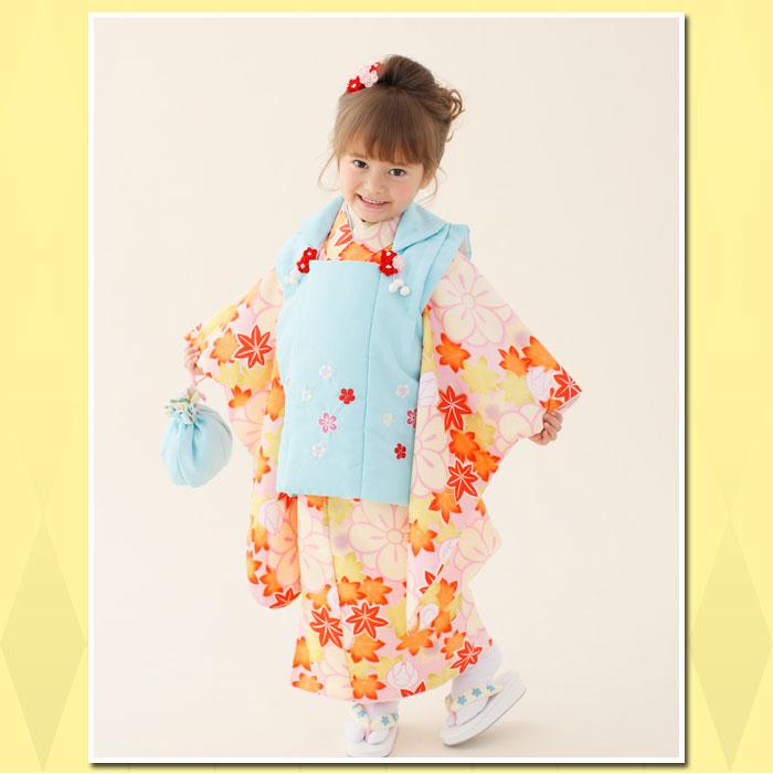 【レンタル七五三】女の子3歳用七五三被布フルセット