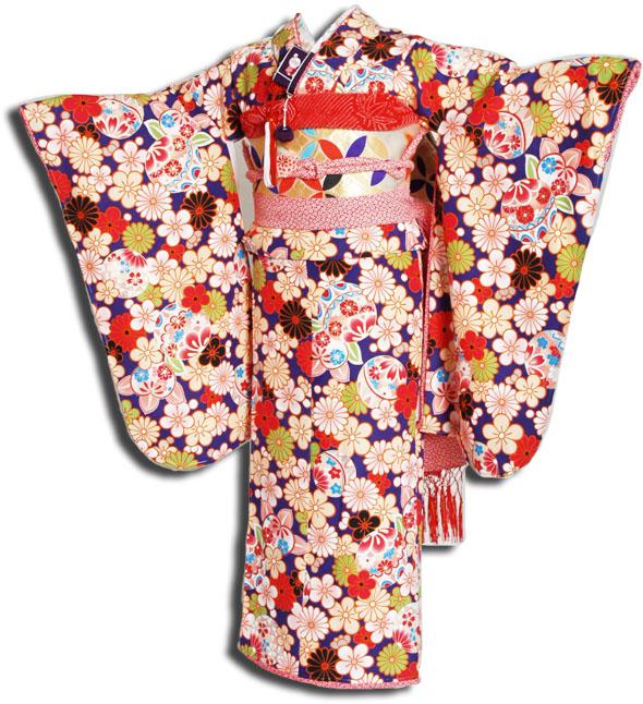 【送料無料】十三参り着物レンタルフルセット(13歳くらいの女の子用着 物)十三詣り-1300