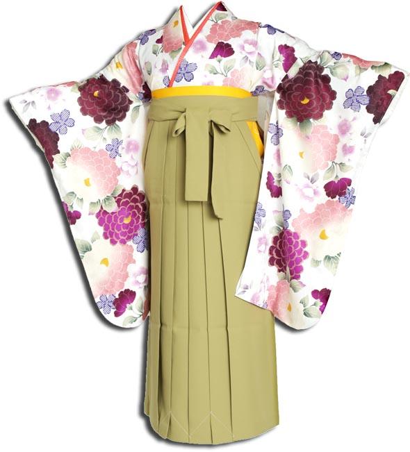 |送料無料||往復送料無料|(13歳くらいの女の子用着物)レンタル十三詣り(十三参り)袴姿フルセット-1301