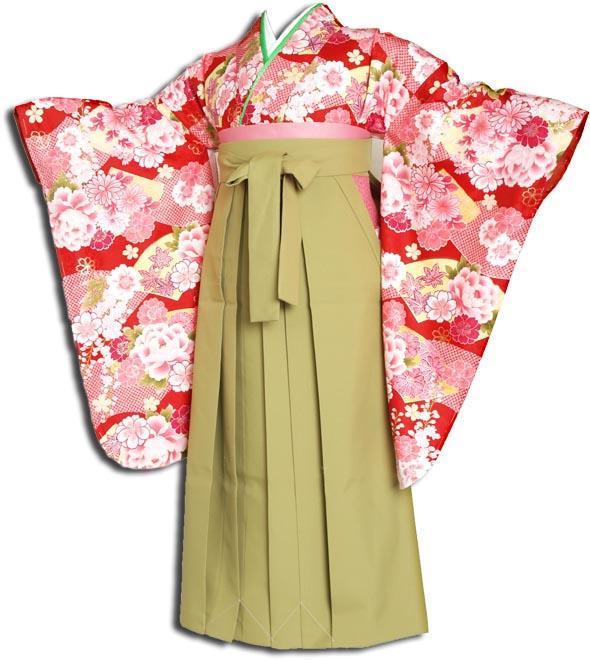|送料無料||往復送料無料|(13歳くらいの女の子用着物)レンタル十三詣り(十三参り)袴姿フルセット-1302