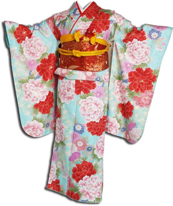 【送料無料】十三参り着物レンタルフルセット(13歳くらいの女の子用着 物)十三詣り-1303
