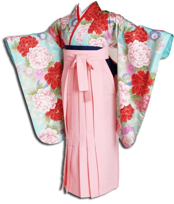 |送料無料||往復送料無料|(13歳くらいの女の子用着物)レンタル十三詣り(十三参り)袴姿フルセット-1303