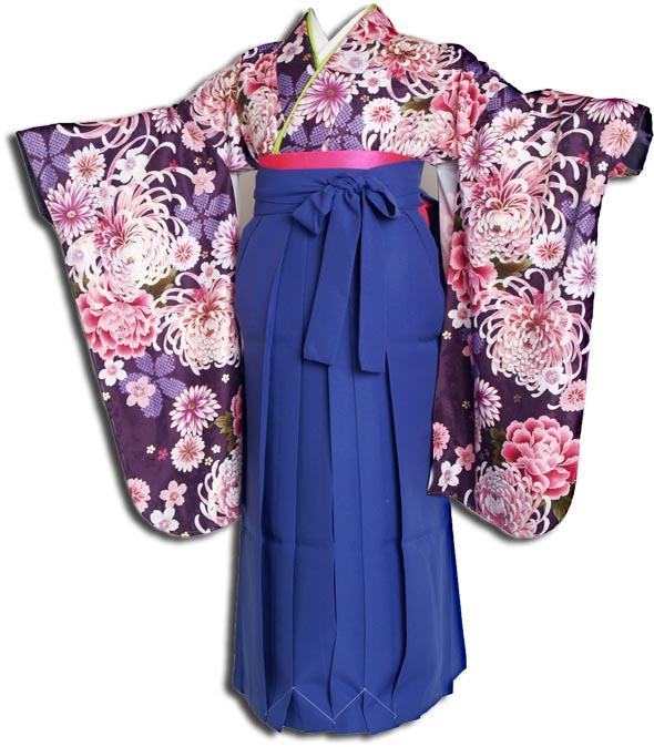 |送料無料||往復送料無料|(13歳くらいの女の子用着物)レンタル十三詣り(十三参り)袴姿フルセット-1304