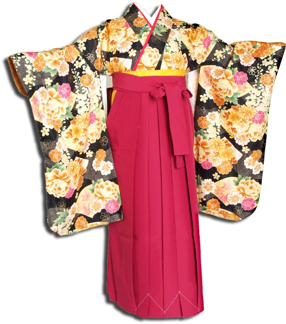 |送料無料||往復送料無料|(13歳くらいの女の子用着物)レンタル十三詣り(十三参り)袴姿フルセット-1306