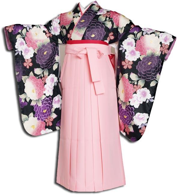 |送料無料||往復送料無料|(13歳くらいの女の子用着物)レンタル十三詣り(十三参り)袴姿フルセット-1307