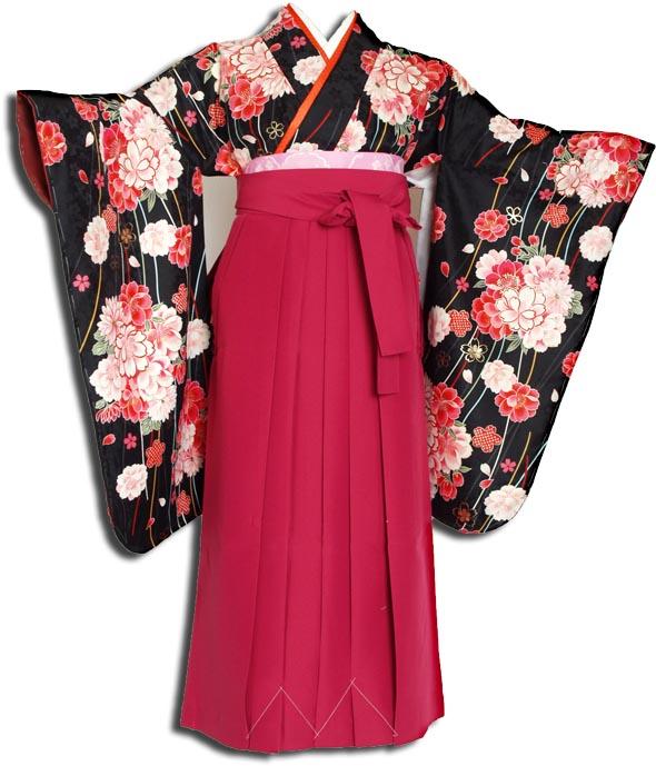 |送料無料||往復送料無料|(13歳くらいの女の子用着物)レンタル十三詣り(十三参り)袴姿フルセット-1308