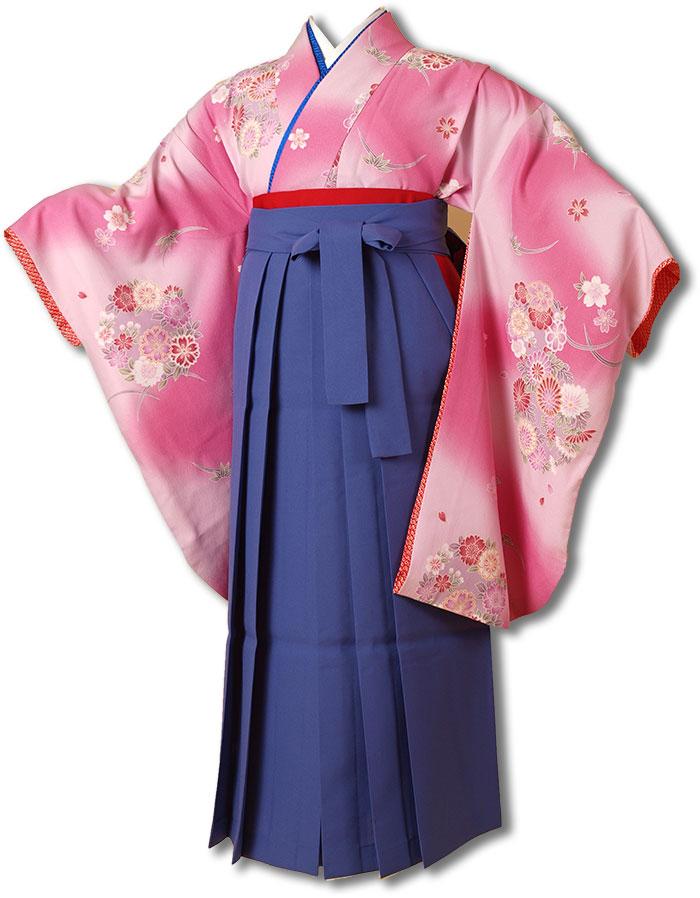 |送料無料||往復送料無料|(13歳くらいの女の子用着物)レンタル十三詣り(十三参り)袴姿フルセット-1320