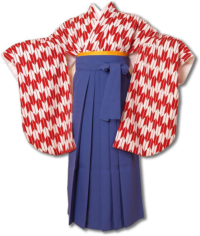 |送料無料||往復送料無料|(13歳くらいの女の子用着物)レンタル十三詣り(十三参り)袴姿フルセット-1322