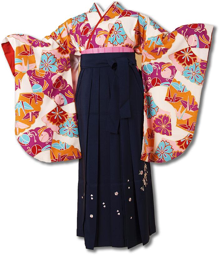 |送料無料||往復送料無料|(13歳くらいの女の子用着物)レンタル十三詣り(十三参り)袴姿フルセット-1327