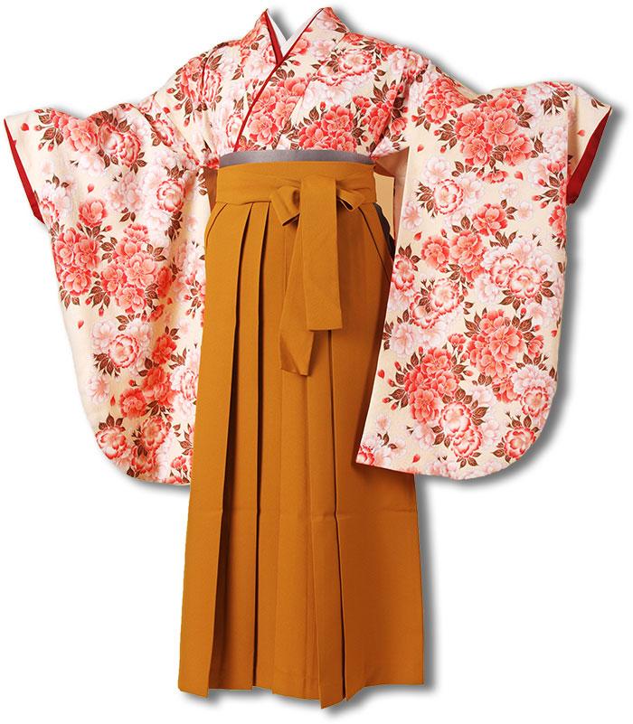 【往復送料無料】(13歳くらいの女の子用着物)レンタル十三詣り(十三参り)袴姿フルセット-1331