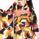 【成人式】 [安心の長期間レンタル]【対応身長155cm〜170cm】【正絹】レンタル振袖フルセット-376|レトロ|古典|黒系|オレンジ|黄色|鶴|総柄|豪華|