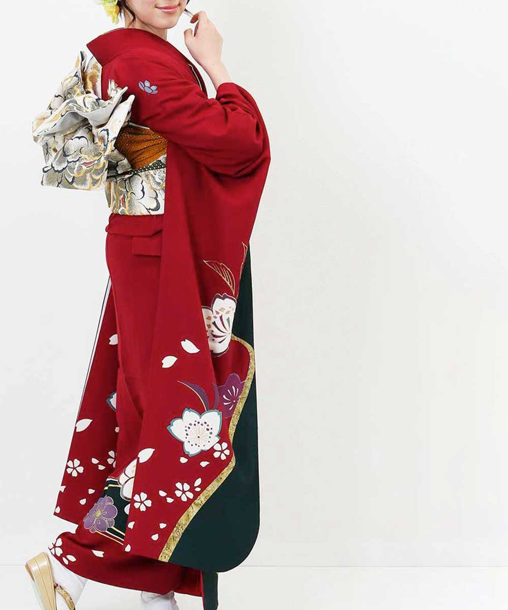 |送料無料|【レンタル】【成人式】 [安心の長期間レンタル]【対応身長153-168cm】レンタル振袖フルセット-690