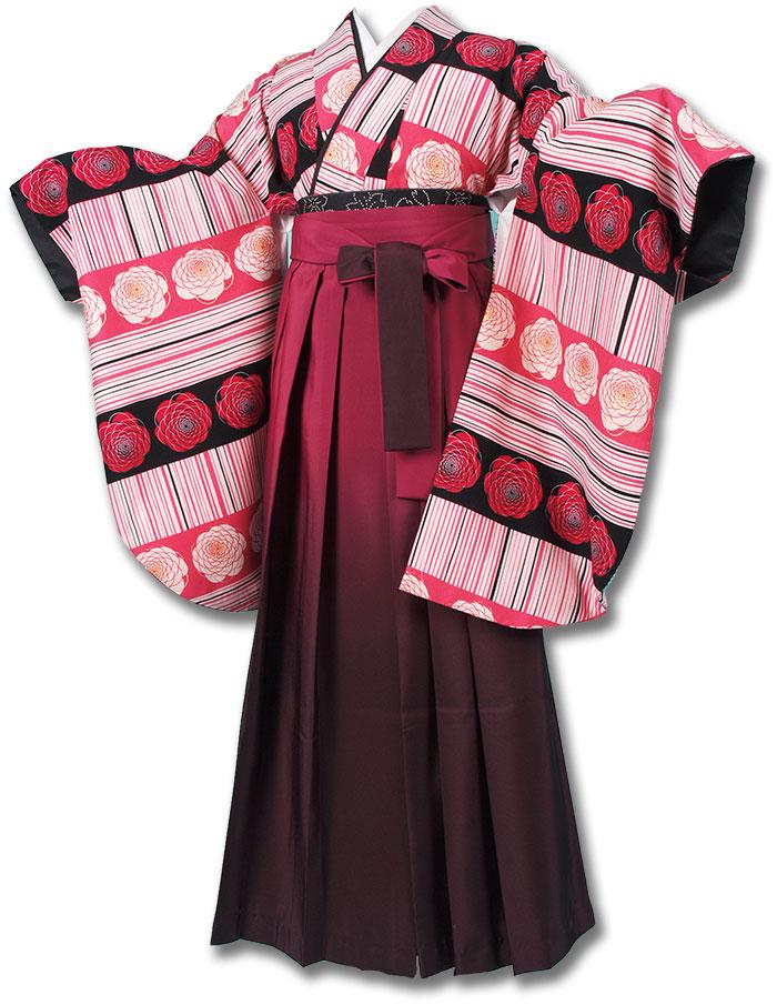 【h】|送料無料|卒業式レンタル袴フルセット-1230