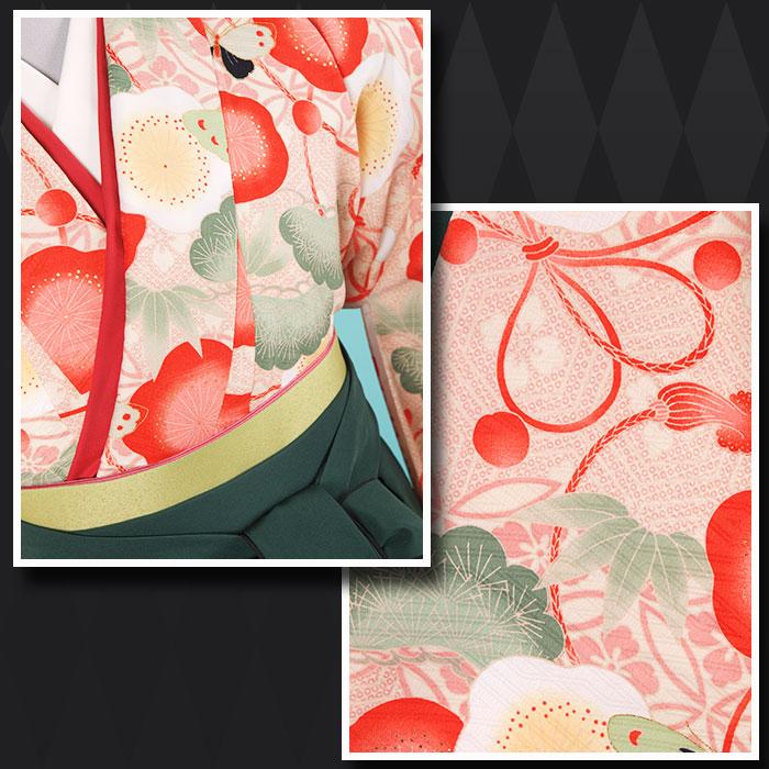 |送料無料|【uxu】卒業式レンタル袴フルセット-1231