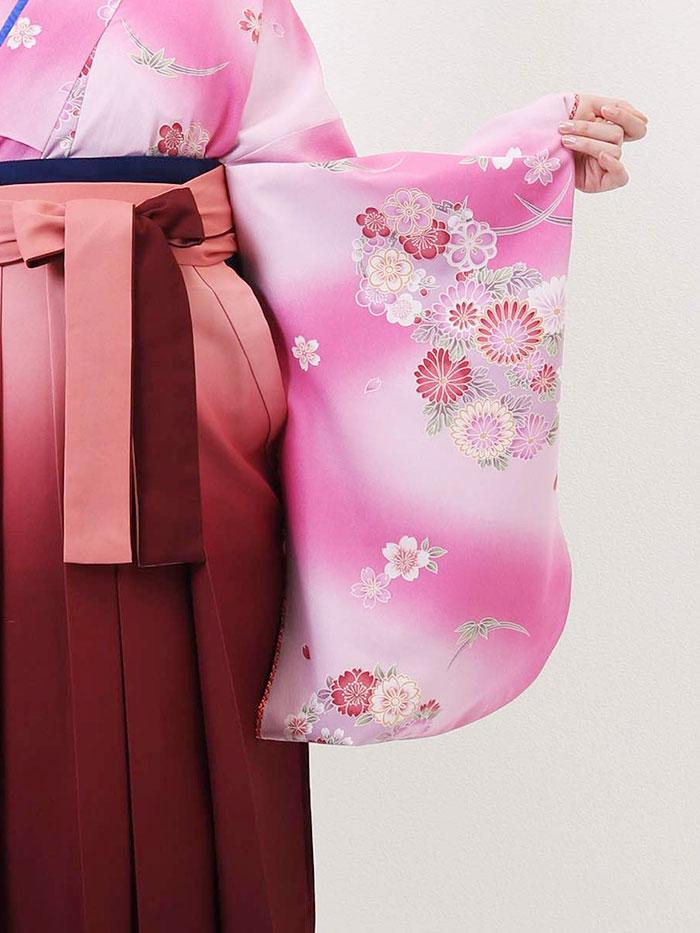 【h】|送料無料|卒業式レンタル袴フルセット-675