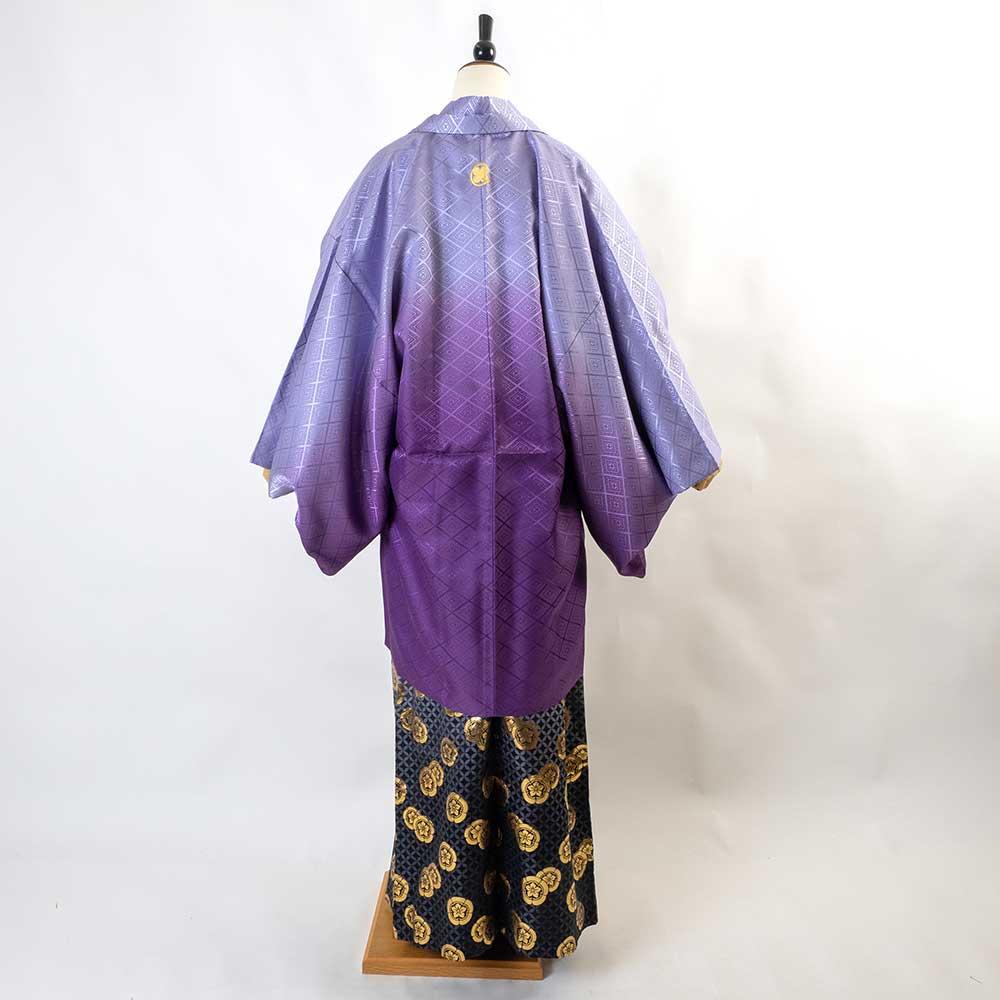 【成人式】【対応身長160cm-170cm】男性用レンタル紋付き袴フルセット