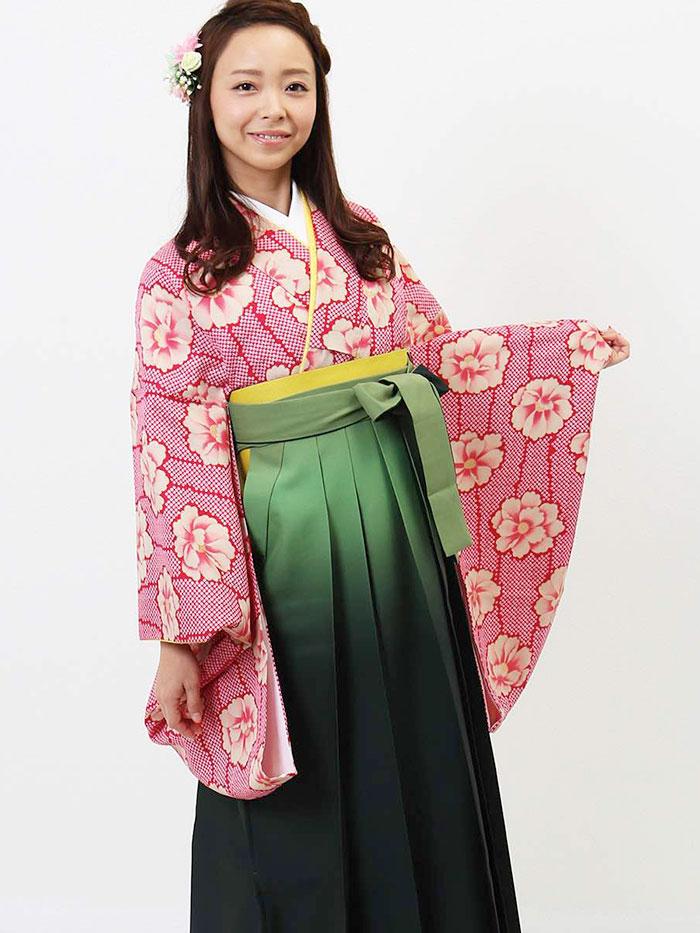 【h】|送料無料|卒業式レンタル袴フルセット-701