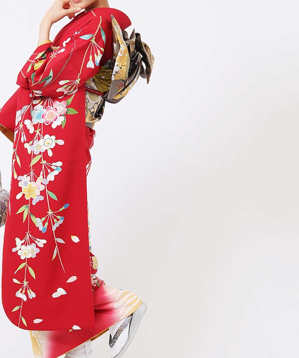 |送料無料|【レンタル】【成人式】 [安心の長期間レンタル]【対応身長153-173cm】レンタル振袖フルセット-693