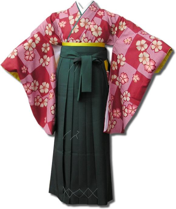 |送料無料|卒業式レンタル袴フルセット-557
