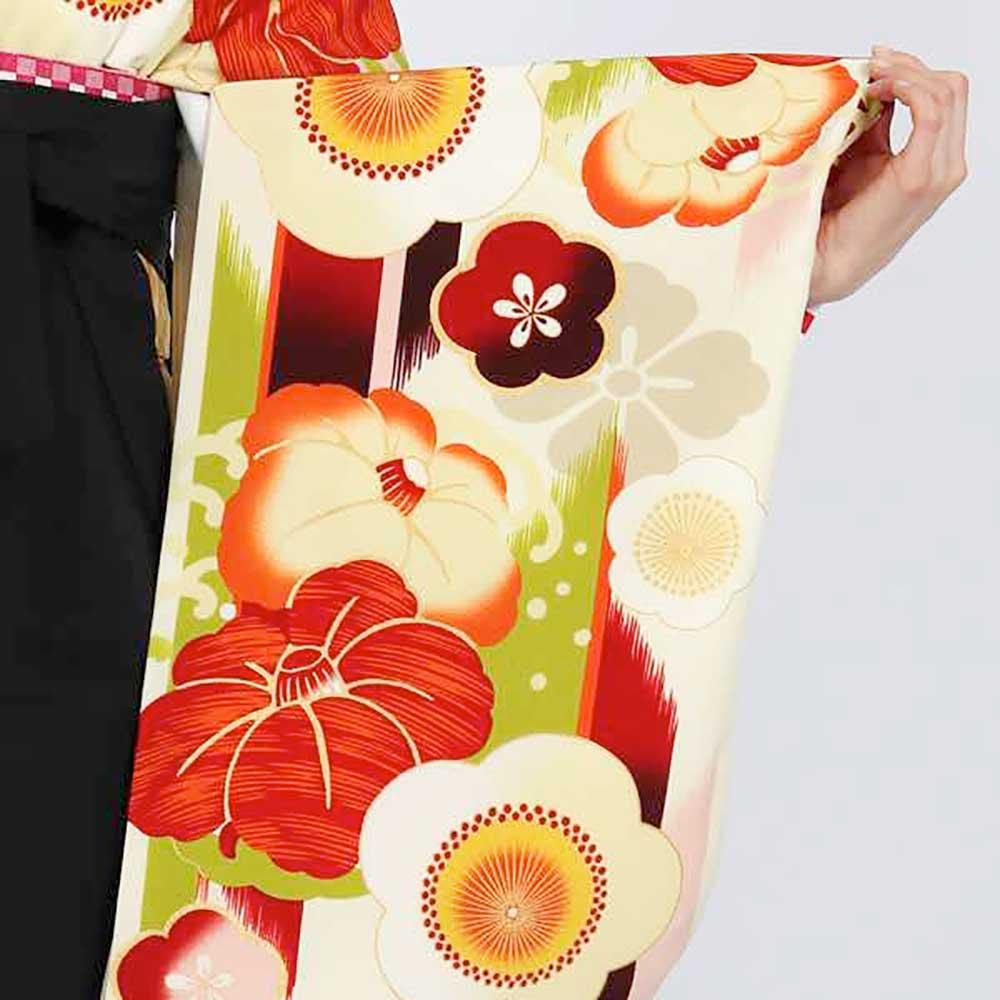 |送料無料|卒業式レンタル袴フルセット-1814